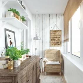 отделка балкона в квартире фото видов
