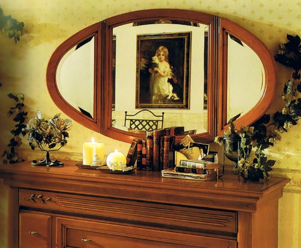 Овальное зеркало в спальне по фен-шуй