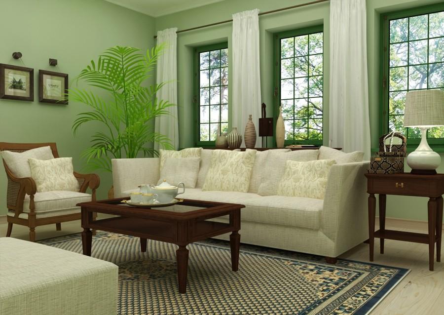 пальма в гостиной