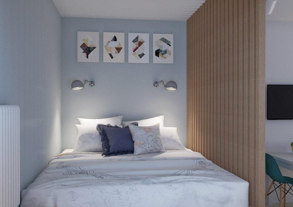 Отделение места для ночного отдыха с помощью деревянной перегородки