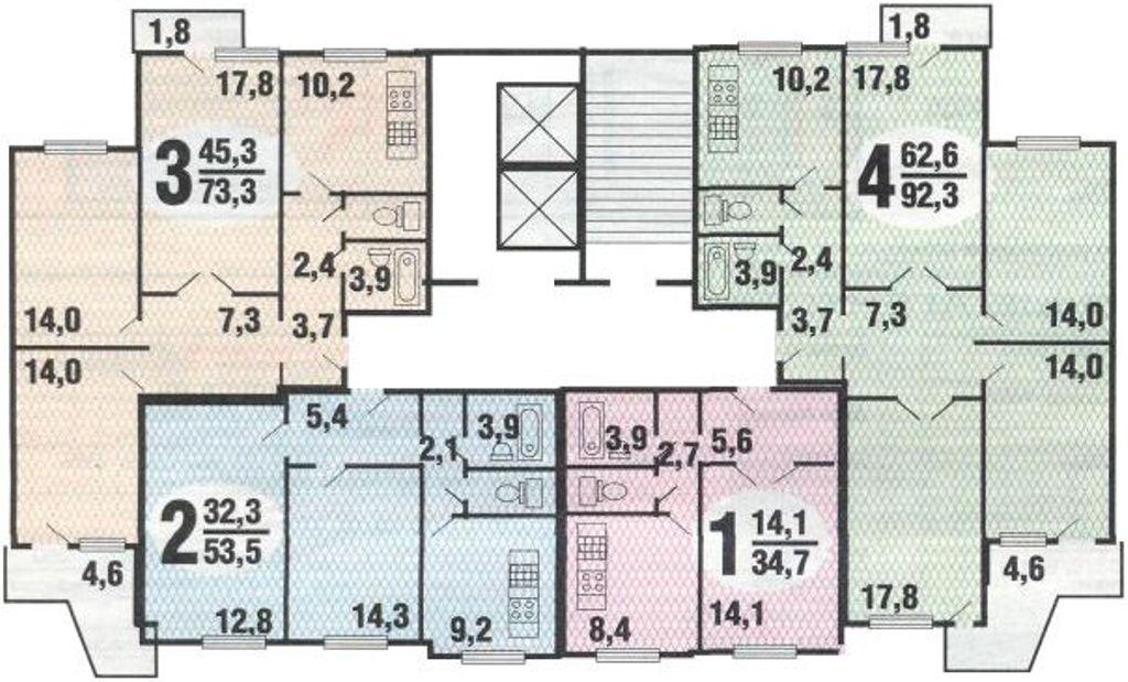планировка этажа п3