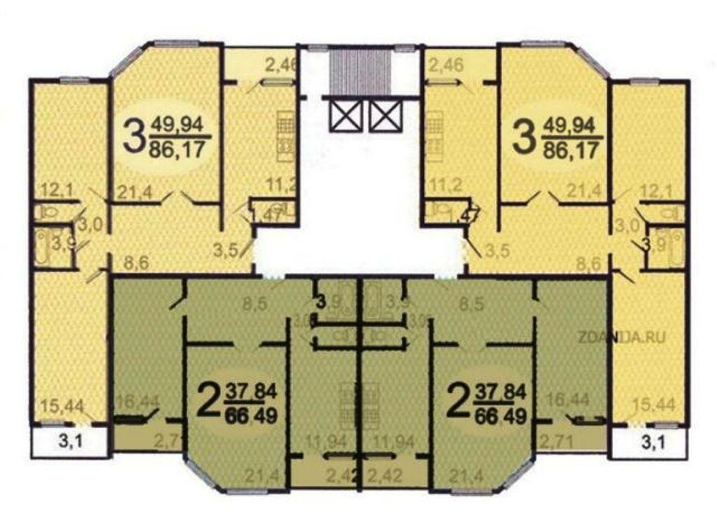 планировка этажа п55м