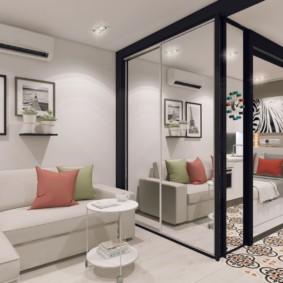 планировка квартиры студии площадью 24 кв м дизайн фото