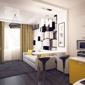 планировка квартиры студии площадью 24 кв м фото декор