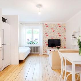 планировка квартиры студии площадью 24 кв м фото идеи