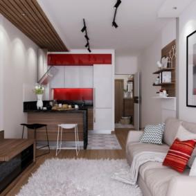 планировка квартиры студии площадью 24 кв м идеи декор