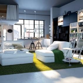 планировка квартиры студии площадью 24 кв м идеи интерьера