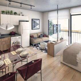 планировка квартиры студии площадью 24 кв м идеи оформление