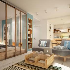 планировка квартиры студии площадью 24 кв м интерьер фото