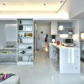 планировка квартиры студии площадью 24 кв м оформление фото