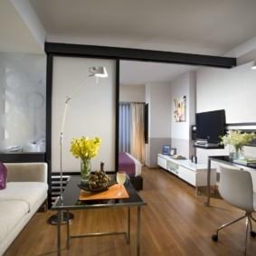 планировка квартиры студии площадью 24 кв м варианты фото