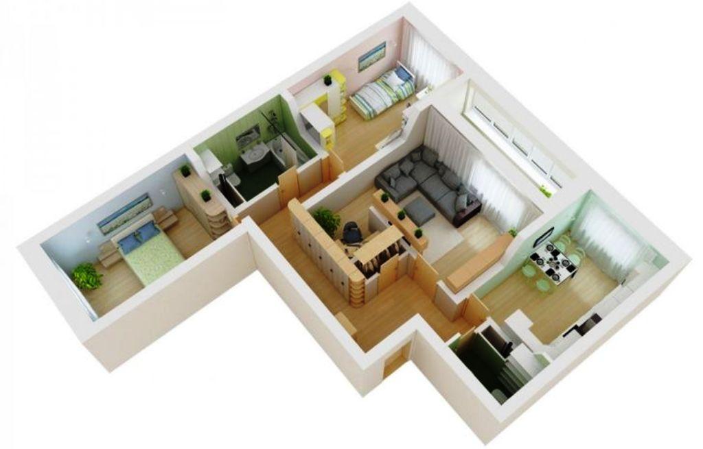 планировка трехкомнатной квартиры распашонки
