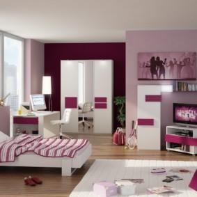 подростковая комната для девочки дизайн