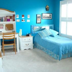 подростковая комната для девочки интерьер