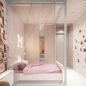 подростковая комната для девочки фото интерьер