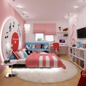 подростковая комната для девочки виды дизайна