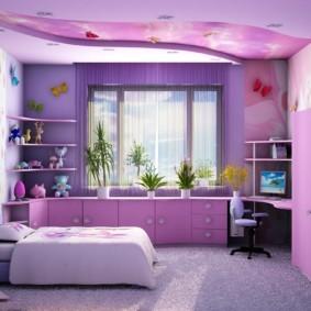 подростковая комната для девочки виды декора