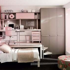 подростковая комната для девочки виды оформления