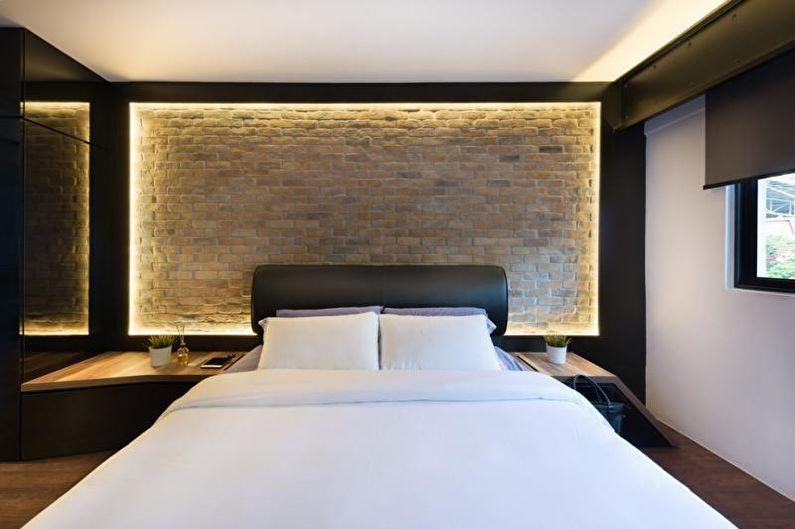 Светодиодная подсветка в спальне современного стиля