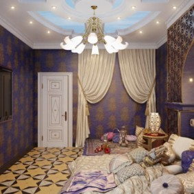 интерьер комнаты в восточном стиле идеи дизайн