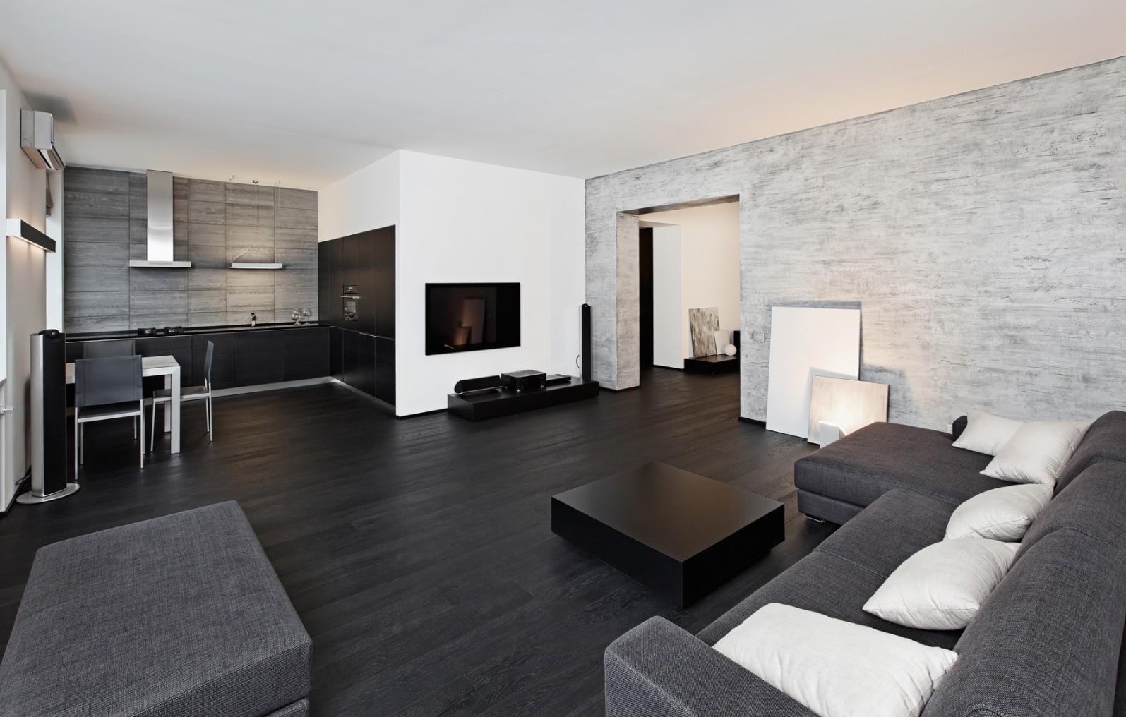 темный ламинат в квартире