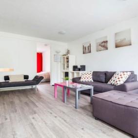 пол из ламината в квартире интерьер фото