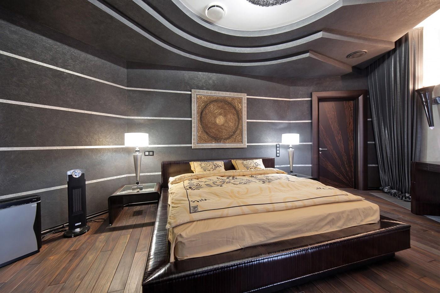 пол из ламината в спальне
