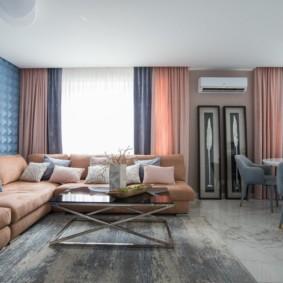 потолок из гипсокартона для гостиной идеи интерьер