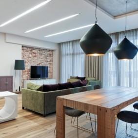 потолок из гипсокартона для гостиной идеи интерьера