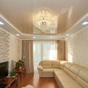 потолок из гипсокартона для гостиной варианты