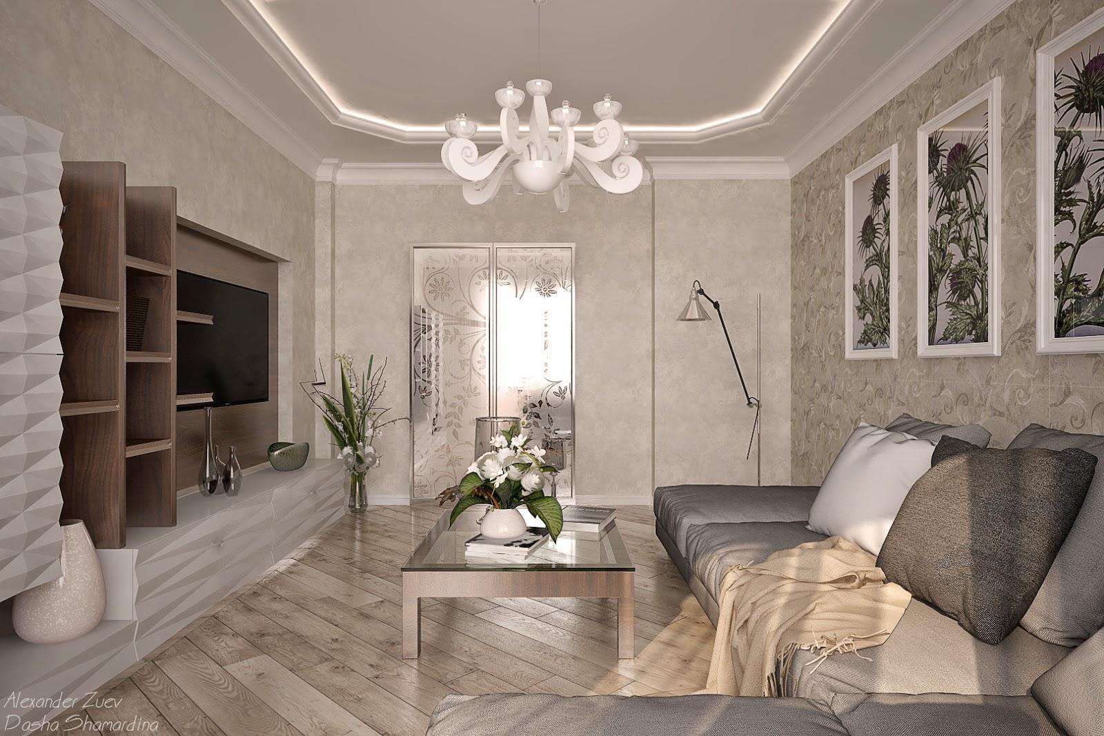 Гипсокартонный потолок в гостиной фото для такого