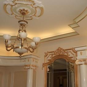 потолок из гипсокартона для гостиной обзор
