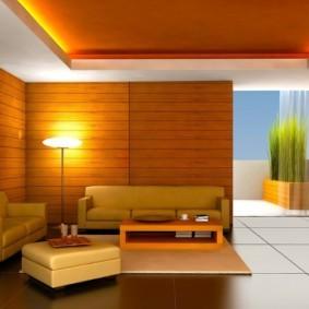 потолок из гипсокартона для гостиной идеи
