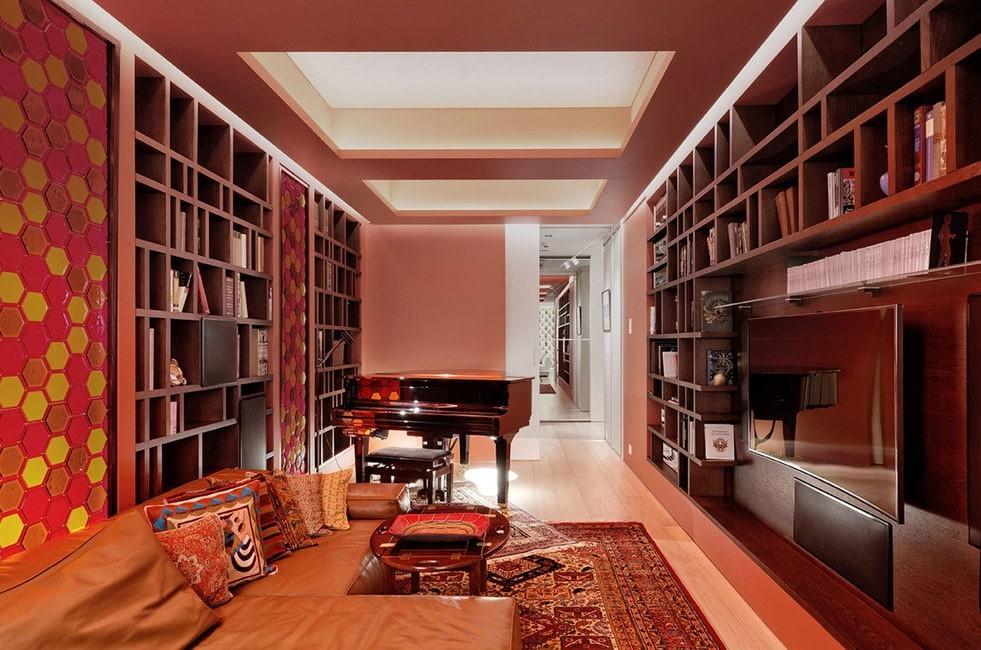 потолок из гипсокартона для гостиной декор