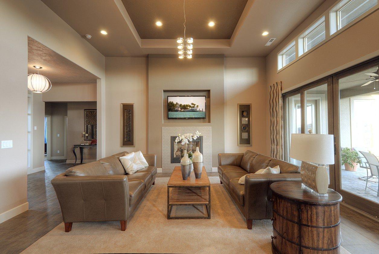 потолок из гипсокартона для гостиной оформление