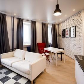 потолок в гостиной декор фото