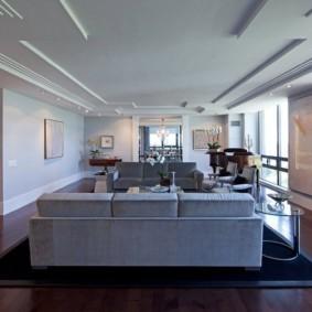 потолок в гостиной фото дизайна