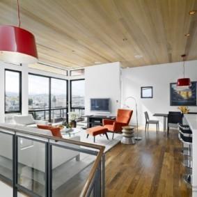 потолок в гостиной фото идеи