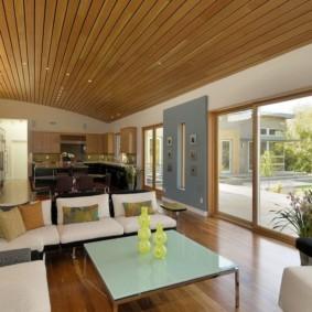 потолок в гостиной идеи