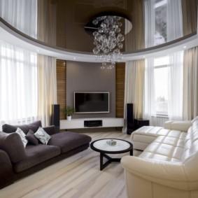 потолок в гостиной идеи дизайн