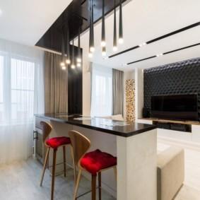 проект трехкомнатной квартиры декор
