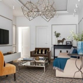 проект трехкомнатной квартиры интерьер фото