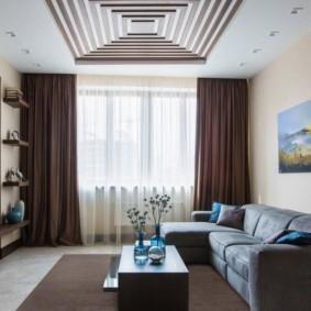 проект трехкомнатной квартиры фото интерьера