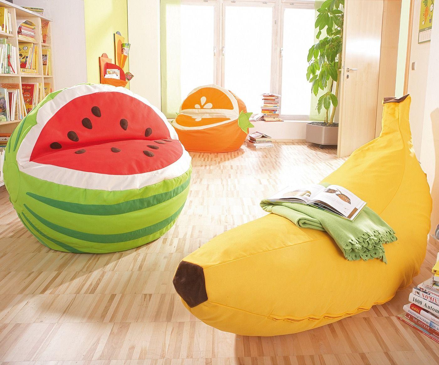 пуфы для детской фрукты