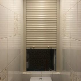 Подъемная створка жалюзи в туалете хрущевки