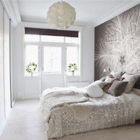 серые обои в спальне дизайн