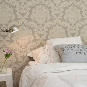 серые обои в спальне идеи дизайна