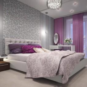 серые обои в спальне идеи интерьер