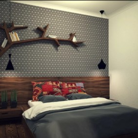 серые обои в спальне идеи интерьера