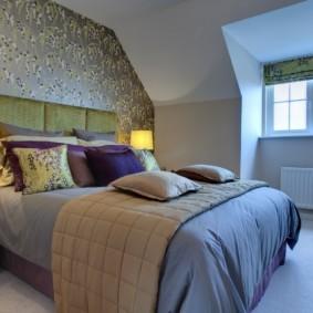 серые обои в спальне виды дизайна